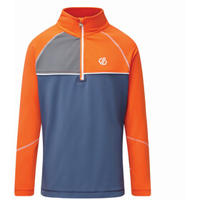 Dare 2b Formate Core Stretch Longsleeve Shirt Kinderen, blaze orange/dark denim
